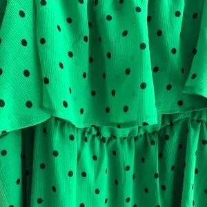 torrid Tops - Torrid 3x bright green with black polka dot tank